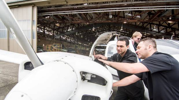 Aviation students work on an aircraft at NMIT's Woodburne training centre in 2014. The course has now received the first ...