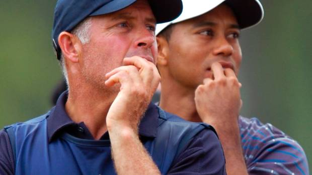 Steve Williams pictured as caddie for Tiger Woods in 2006.