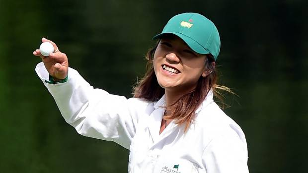 Lydia Ko hits near-perfect shot while caddying for Kevin ...