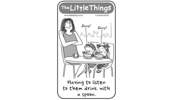 The Little Things April 13 - Drink with a spoon