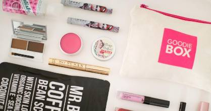 GoodieBox is a New Zealand monthly service that delivers five different beauty products to a subscriber's door.