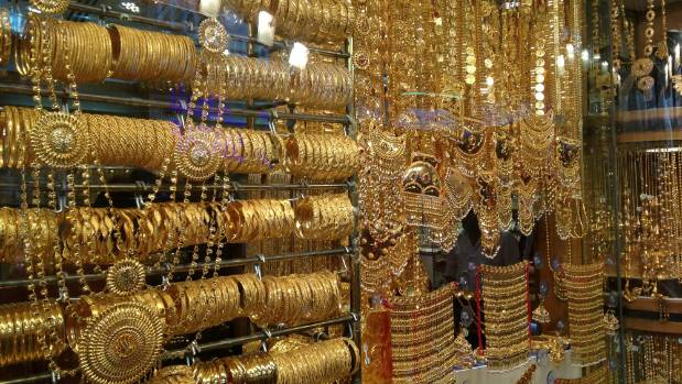 Jewellery traders selling the impressive to the garish line the alleyways of Dubai's gold market.
