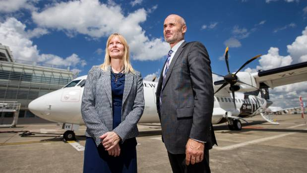 Sarah Williamson and Andrew Ward take delivery of a newly built 68-seat ATR72-600 aircraft.