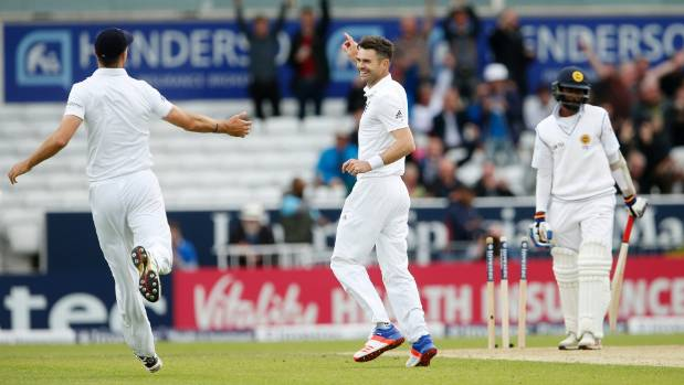 Anderson, Broad skittle out SL, enforce follow on
