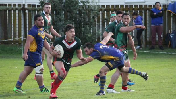Whiti Te Ra hooker and captain Manaia Osborne scoots out of dummy half during his side's 30-18 win over the Randwick ...