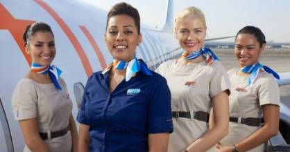 The FlyDubai crew.
