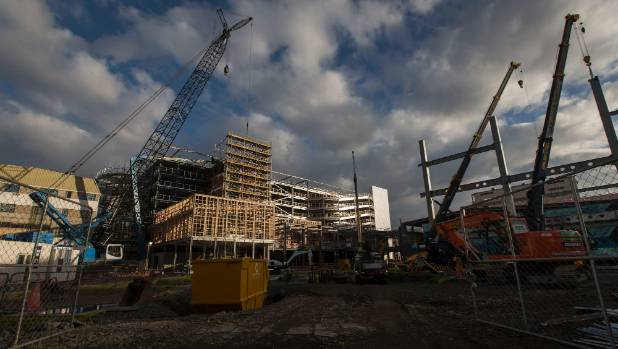 Despite a weak primary sector, a booming construction market helped grow the economy at the start of the year.