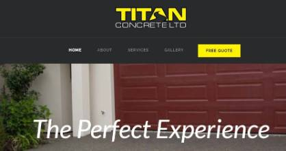 A screenshot from Titan Conrete's website. The business was incorporated in November and went into receivership in April.