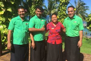 The ever attentive and cheerful staff at Sinalei Reef Resort and Spa.
