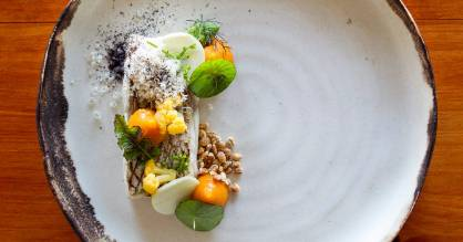 A dish from Roots, last year's Cuisine Restaurant of the Year.