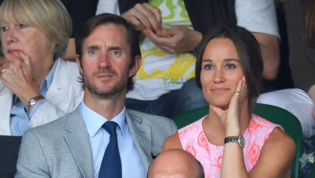 Pippa Middleton and her fiance James Matthews at Wimbledon.