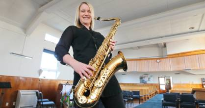 Emma Jarman is the first female musical director of the Invercargill City Big Band.