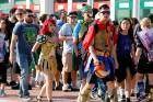 Fans of superhero movies, comic books and pop culture arrive in costume for opening day of the annual Comic-Con ...
