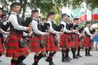 The Manawatu Scottish Pipe Band will compete at the world championships. The front rank at the street march at nationals ...