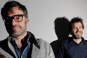 080414. news. Photo: KENT BLECHYNDEN/FAIRFAX NZ. Flight of the Conchords members Jemaine Clement and Bret  McKenzie ...