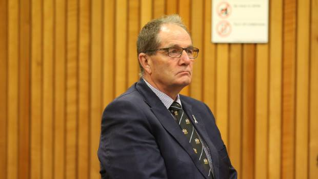 MP Chester Borrows stands in court at an earlier appearance, charged with careless driving causing injury.