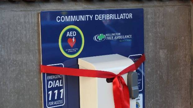 Upper Hutt Station AED installed last month.
