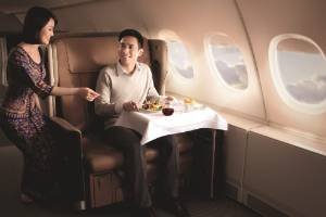 Singapore Airlines' next-generation business class cabin.