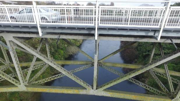 A drone has allowed Waipa District Council to see what areas of Victoria Bridge in Cambridge need maintenance.