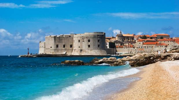 Dubrovnik on the Adriatic Sea coast