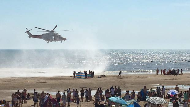 Helicopter Searches For Swimmer At Camber Sands
