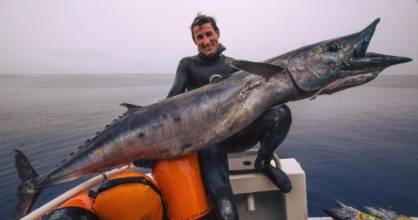 The shot that had the internet doubting: Jaga Crossingham and his enormous wahoo.