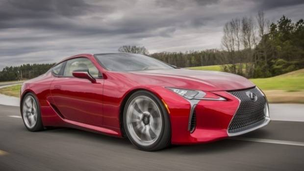 The racer is part of the hype train for the brand's new LC500 sports car which is due to hit Australian showrooms in 2017.
