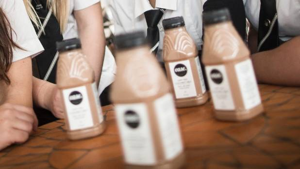 Ease Coconut Milk – a vegan-friendly chocolate milk created by Hutt Valley High School students Megan Rea, Eireanne ...