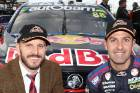 Jamie Whincup, right, and Paul Dumbrell have claimed pole position for the Sandown 500.