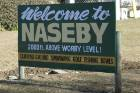 Naseby, Central Otago: The sign says it all.