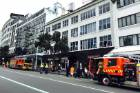 Six fire crews were called to a suspicious fire in Auckland's CBD.