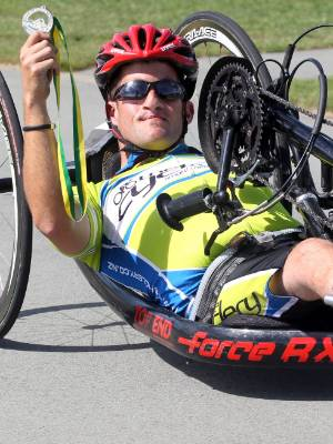Timaru handcyclist Jono Nelson is aiming to gradually improve his world ranking.