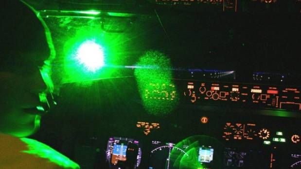 International Flights Targeted by Lasers Near New Zealand Airport