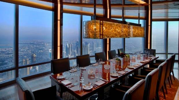 Have a drink in the Armani Hotel, Burj Khalifa - the tallest building in the world.