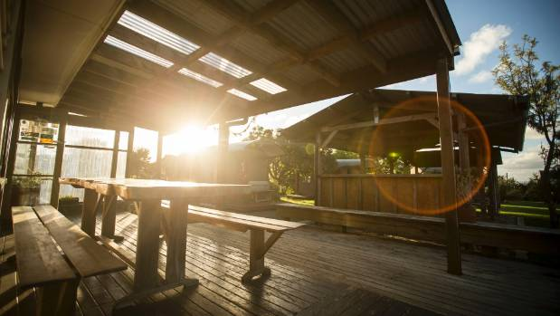 Just out of Raglan is Solscape offering quirky, up-cycled accommodation.