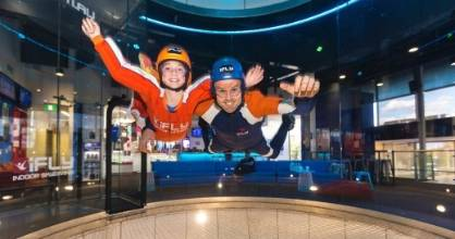 Kids can experience the motion of flying at The iFly, Gold Coast.