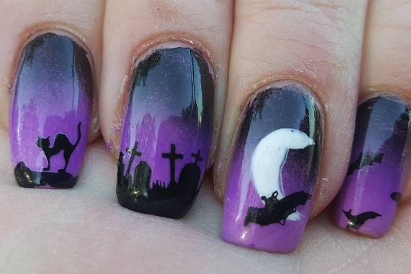 Purple hues blended with black and a steady hand make these talons award-winning.