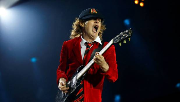 Lead guitarist Angus Young and AC/DC were blamed for wrecking the Stade Velodrome turf in Marseilles before the Euro ...