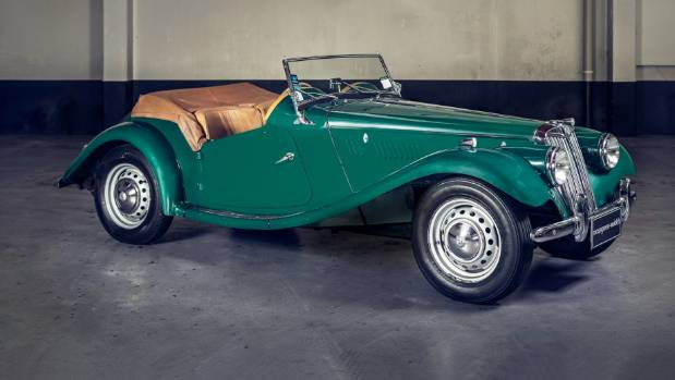This 1954 MG TF 1250 is expected to fetch between $32,000 and $38,000.