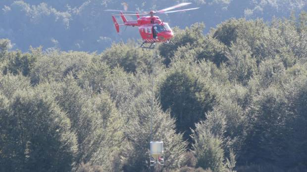 A helicopter used by Otago Rescue Helicopter Trust has been used for aerial 1080 drops in Fiordland.