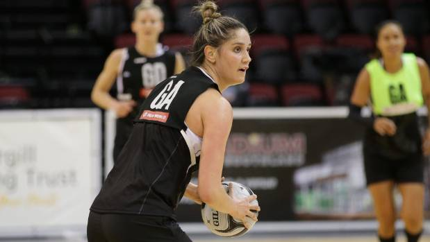 Silver Ferns player Te Paea Selby-Rickit in action ahead of the Constellation Cup netball match between Australia and ...