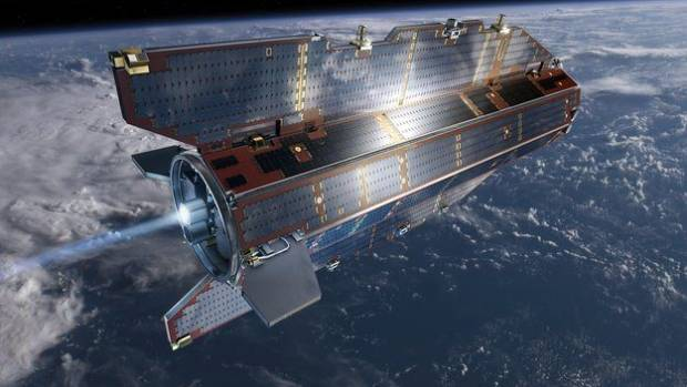 END OF SERVICE: An artist's impression of the GOCE satellite in orbit.