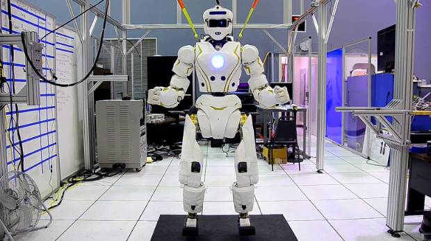 SMELLS LIKE VICTORY: The Johnson Space Center's entry in the DARPA robotics challenge; the Valkyrie.
