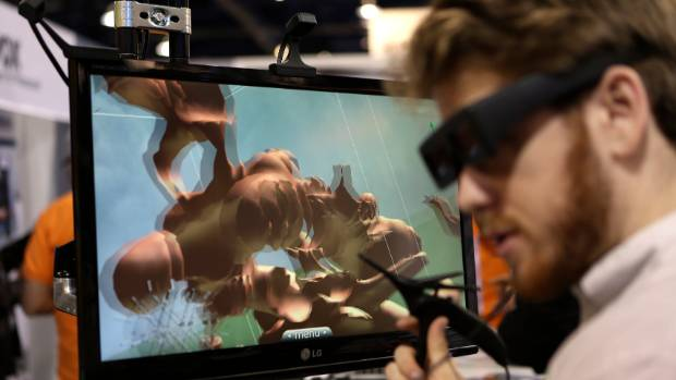 A 3D object is created on a screen at the Leopoly booth at the annual Consumer Electronics Show in Las Vegas.