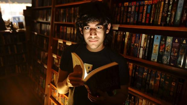 AGENT OF CHANGE: Aaron Swartz in a bookstore in San Francisco in 2008.