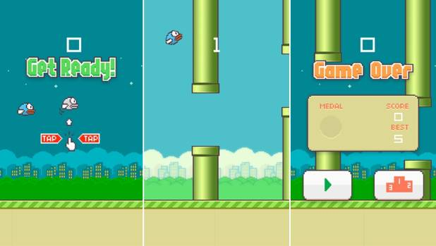 GROUNDED: The mobile app game Flappy Birds was removed from the Apple and Google app stores on Sunday.
