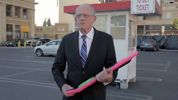 DOC BROWN: Back to the Future star Christopher Lloyd took part in the Funny or Die hoverboard hoax.