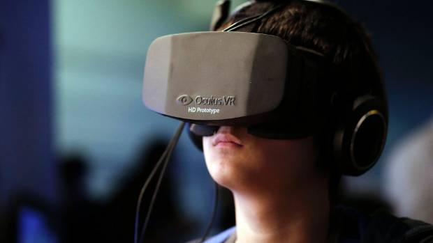 GAME GADGETS: The gaming headset Oculus Rift, made by Facebook's newly purchased company.