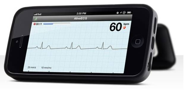 CASE CLOSED: The AliveCor Heart Monitor smartphonec case.