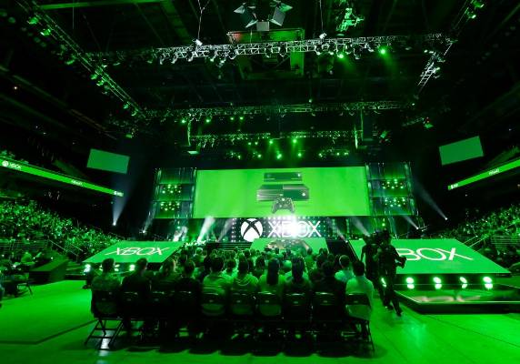 The Xbox E3 Media Briefing at USC's Galen Center in Los Angeles, California.